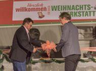 """Politik und Kirche würdigen """"Weihnachten im Schuhkarton®""""/ Eröffnung: """"Schaffe, schaffe, Päckle packe"""" in der Weihnachtswerkstatt"""