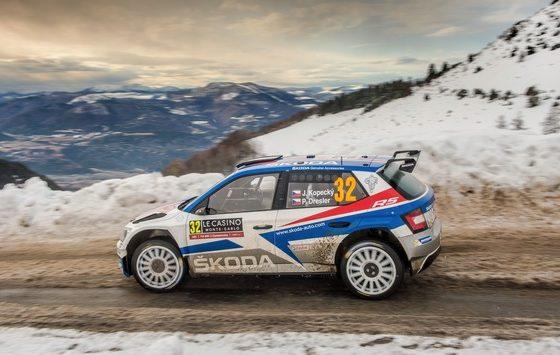 SKODA tritt beim GP Ice Race in Zell am See mit dem FABIA R5 und dem legendären SKODA 130 RS an