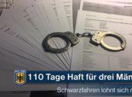 Bundespolizeidirektion München: Dreimal Haft fürs Schwarzfahren - Geldstrafen konnten nicht bezahlt werden