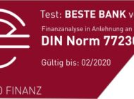"""Der Fragebogen im Bankentest """"BESTE BANK vor Ort"""" ist zum wiederholten Male zertifiziert"""