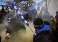 Ausschreitungen bei Mazedonien-Protest