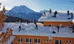 FW-M: Über 400 Münchner Feuerwehrler helfen im Schneechaos (Berchtesgadener Land)