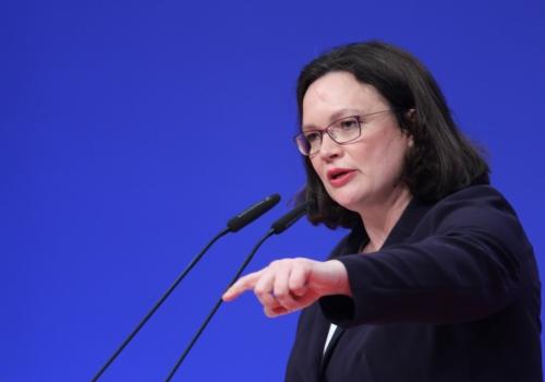 Nahles weist Vorwürfe an SPD wegen Rosa-Luxemburg-Mords zurück