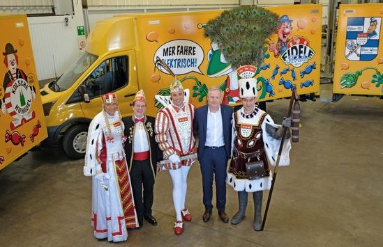 Tollitäre Gäste im Ford-Werk: Kölner Dreigestirn besucht StreetScooter-Fertigung in Niehl