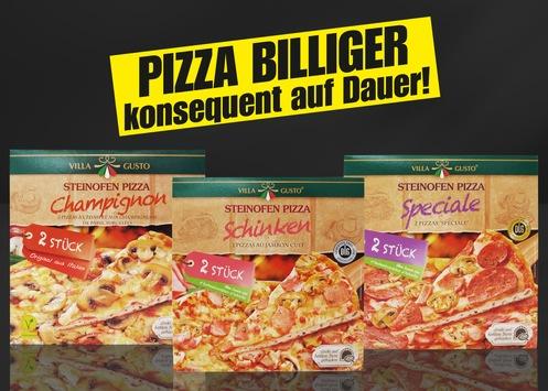NORMA: Schon die zweite Preissenkung im Februar / Nürnberger Handelsunternehmen reduziert leckere Pizzen im Zweierpack