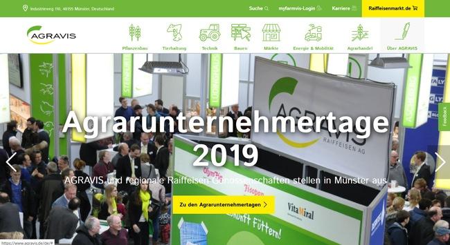 Agravis Raiffeisen AG: Neue Konzern-Website ist online