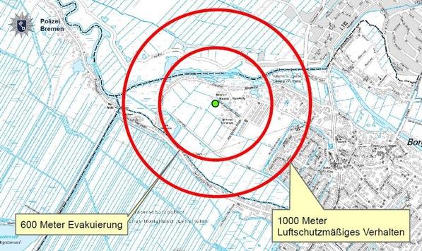 POL-HB: Nr.: 0202 –Entschärfung von zwei Fliegerbomben–