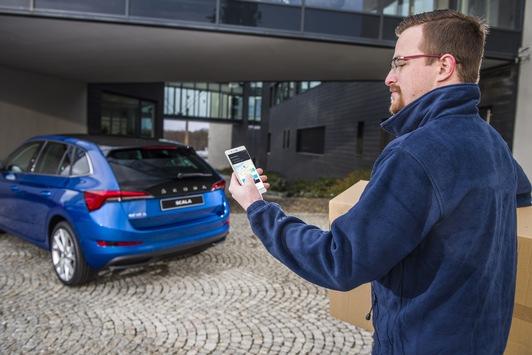 Wenn das Fahrzeug zur Lieferadresse wird: SKODA AUTO DigiLab startet Pilotprojekt