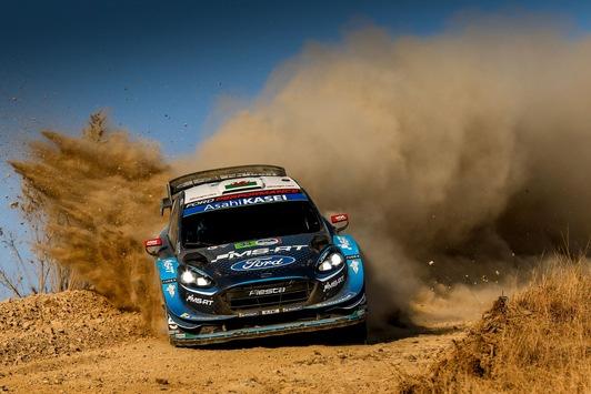 Dem Ford Fiesta WRC gelingt bei der WM-Rallye Mexiko der Sprung unter die besten Drei