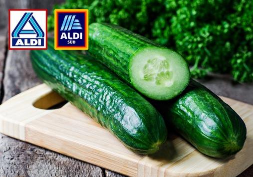 ALDI verzichtet bei Salatgurken auf die Plastikfolie