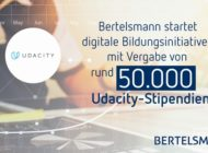 Bertelsmann startet digitale Bildungsinitiative mit Vergabe von rund 50.000 Udacity-Stipendien