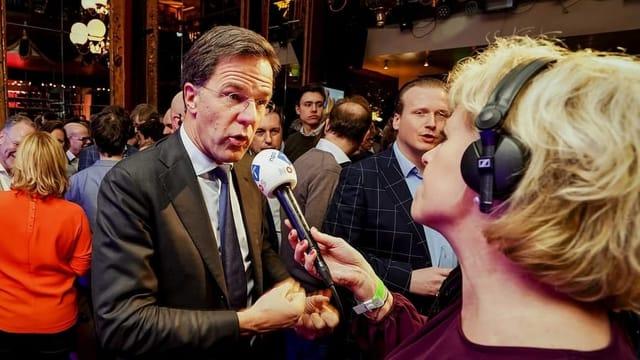 Herbe Verluste für Ministerpräsident Mark Rutte
