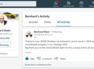 SKODA AUTO Vorstandsvorsitzender Bernhard Maier ab sofort auf LinkedIn aktiv