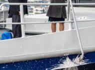 """HZA-HB: Feierliche Taufe des neuen Zollbootes """"Bremen"""" Staatssekretär Dr. Rolf Bösinger hält die Taufrede"""