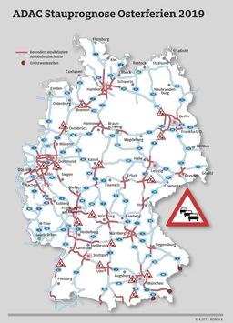 Staualarm am Osterwochenende / ADAC Stauprognose für 18. bis 22. April