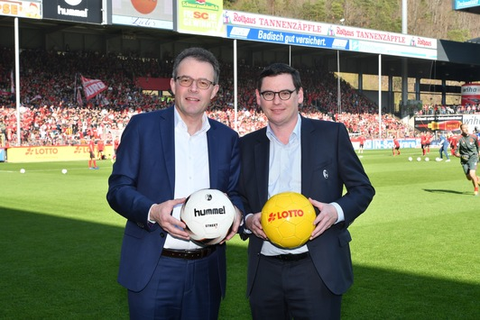 Lotto Baden-Württemberg und SC Freiburg verlängern Partnerschaft