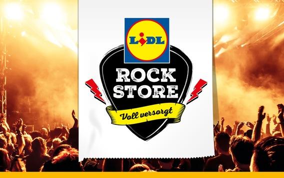 """Voll versorgt abrocken: Lidl öffnet wieder seine legendären """"Lidl Rock Stores"""" bei Rock am Ring und Rock im Park"""