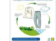 Innovative Produktentwicklung: Biologisch abbaubare Textilien mit Aufdruck bei Lidl