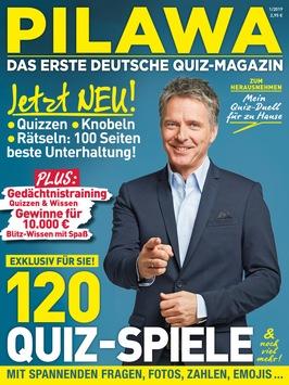 Mit PILAWA kommt Deutschlands erstes Quiz-Magazin auf den Markt