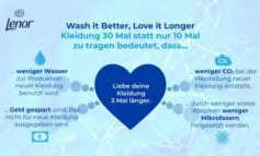 """Wash it Better, Love it Longer"" / Lenor lädt Modefans zur Initiative #30wears ein"