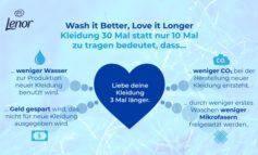 """""""Wash it Better, Love it Longer"""" / Lenor lädt Modefans zur Initiative #30wears ein"""