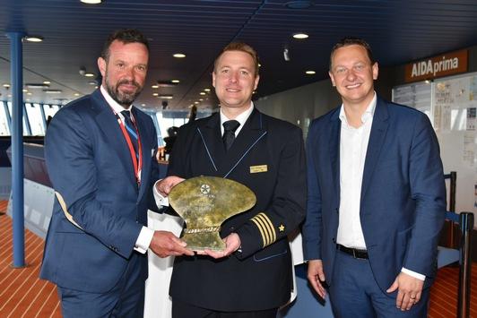 AIDAprima startet ab Kiel in die Sommersaison 2019