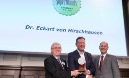 """Dr. Eckart von Hirschhausen und 44 Marken als """"Superbrands Germany 2018/2019"""" ausgezeichnet"""