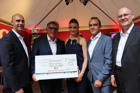 Partnerschaft zwischen der international erfolgreichen Berliner Para-Schwimmerin Elena Krawzow und der Spielbank Berlin