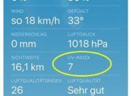 Der UV-Index: Oft missachtet, aber für gesunde Haut immer wichtiger / Eine Zahl in den Wetter-Apps kann das Hautkrebsrisiko mindern