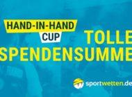"""sportwetten.de generiert 24.000 EUR für den """"Hand-in-Hand-Cup"""""""
