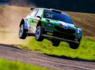 Kreim vor Griebel: SKODA geht mit WRC 2-Doppelführung in den Finaltag der Rallye Deutschland