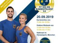 """Bundespolizeidirektion München: """"Fit wie ein Bundespolizist 2.0"""" - Work-outs für jedermann im Münchner Olympiapark / Sport, Spaß und Smoothies mit der Bundespolizei"""