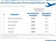 Flughafen: Parken direkt am Terminal kostet bis zu 375 Euro für zwei Wochen