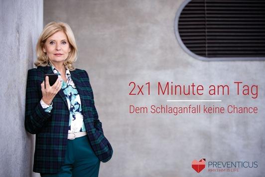 PRESSEKONFERENZ MORGEN FRÜH – Sabine Postel spricht als Botschafterin über ihre Erfahrungen mit dem Schlaganfall / Was sie vor hat, um Schlaganfälle zu vermeiden