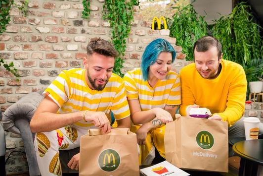 McDonald's feiert seinen Lieferservice mit einer exklusiven Modekollektion zum Chillen
