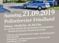 POL-NB: Einladung zum Tag der offenen Tür im Polizeirevier Friedland