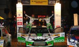 Rallye Erzgebirge: SKODA Piloten Kreim/Braun ,schwimmen' zum Sieg - Titelentscheidung vertagt