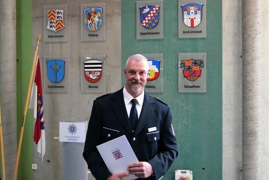 POL-DA: Dieburg: Führungswechsel bei der Polizeistation Dieburg / Erster Polizeihauptkommissar Romig als neuer Leiter in sein Amt eingeführt