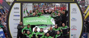 Rallye Großbritannien: Spiel, Satz und WRC 2 Pro-Titel* für SKODA Werksfahrer Kalle Rovanperä und Jonne Halttunen