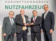 Dr. Stefan Guserle mit dem Europäischen Sicherheitspreis Nutzfahrzeuge ausgezeichnet / Gemeinsame Ehrung von DVR, EVU und DEKRA