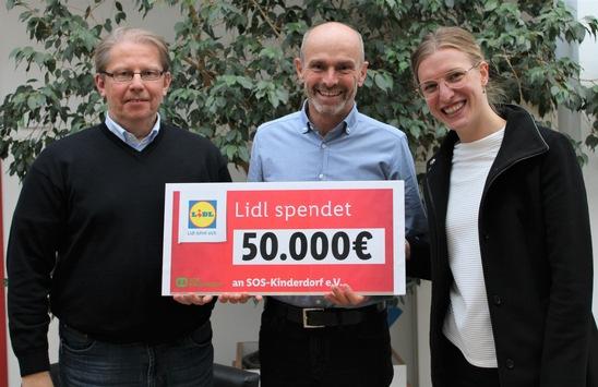 Mehr Chancengerechtigkeit: Lidl unterstützt SOS-Kinderdorf-Projekte mit 50.000 Euro