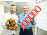 Johanniter begrüßen 200.000sten Hausnotrufkunden