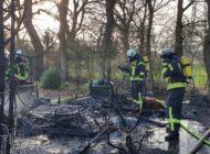 FW-LK Leer: Schuppen stand in Logabirum in Vollbrand