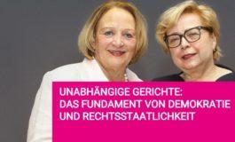 Terminhinweis: Unabhängige Gerichte - Das Fundament von Demokratie und Rechtsstaat / Malgorzata Gersdorf und Sabine Leutheusser-Schnarrenberger diskutieren über Angriffe auf die Justiz