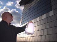 Wo die Wand das Licht macht - Naturfassade aus Schiefer schützt, dämmt und liefert Energie