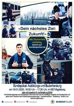 """BPOLI MD: """"Die Bundespolizei – Mit Sicherheit vielfältig!"""" – Einstellungsberater im BiZ Magdeburg – Kommt vorbei!"""