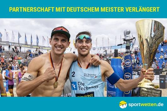 sportwetten.de verlängert Partnerschaft mit Deutschem Meister