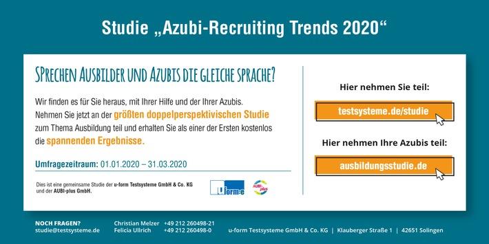 """Wie tickt die """"Generation Azubi""""? / """"Azubi-Recruiting Trends"""": größte doppelperspektivische Studie zur dualen Ausbildung nimmt junge Bewerbergeneration in den Blick"""