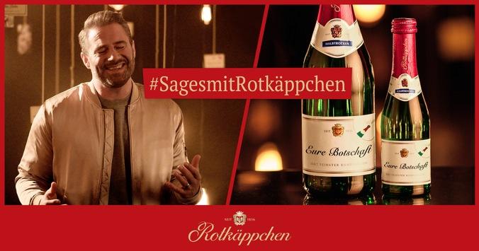 Prickelnder Start ins Jahr: Mit individuellen Etiketten und Sänger Sasha macht Rotkäppchen 2020 kleine und große Momente unvergesslich