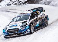 Ford Fiesta WRC fährt bei der WM-Rallye Monte-Carlo auf Rang vier
